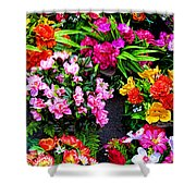 At The Flower Market  Shower Curtain