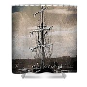 At The Harbor Shower Curtain