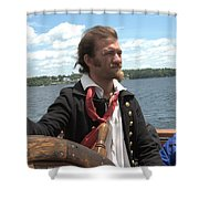 At The Helm Shower Curtain
