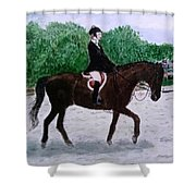 At The June Fete Shower Curtain