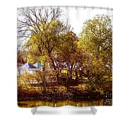 At The Lake-45 Shower Curtain