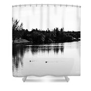 At The Lake-50 Shower Curtain