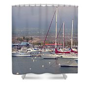At The Marina Shower Curtain