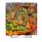 At The Market - Oranges Shower Curtain