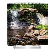 At The Mill Pond Dam Shower Curtain