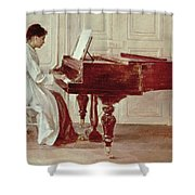 At The Piano Shower Curtain