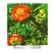 At The Pond's Edge Shower Curtain