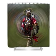 At The Powwow Sault Ste Marie Michigan Shower Curtain