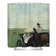 At The Races In The Countryside Shower Curtain