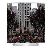 At The Rockefeller Center Shower Curtain