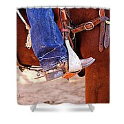 At The Rodeo Shower Curtain