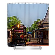 At The Station Shower Curtain