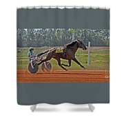 At The Three Quarter Mile Post Shower Curtain