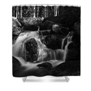 at the upper Bodefall, Harz Shower Curtain