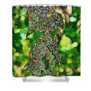 At The Valley Of Butterflies In Rhodes Island Shower Curtain