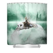 At Top Speed Shower Curtain