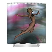 At World S End  4 Flame Shower Curtain