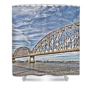Atchafalaya River Bridge Shower Curtain