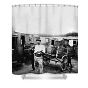 Atget Shantytown, C1900 Shower Curtain