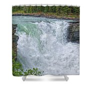 Athabasca Falls Study V Close-up Shower Curtain
