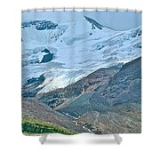 Athabasca Glacier Along Icefields Parkway In Alberta Shower Curtain