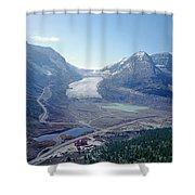 1m3735-athabasca Glacier Shower Curtain