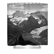 T-303504-bw-athabasca Glacier In 1957  Shower Curtain