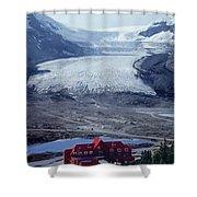 1m3734-athabasca Glacier W Original Icefields Chalet Shower Curtain