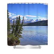 Athabasca River Scenery Shower Curtain