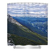 Athabasca River Valley - Jasper Shower Curtain