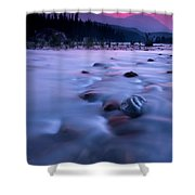 Athabasca Sunset Shower Curtain