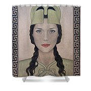 Athena Shower Curtain by Lynet McDonald