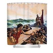 Athenian Trireme Shower Curtain