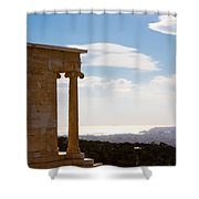 Athens And The Sea From The Acropolis Shower Curtain