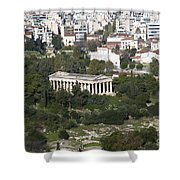Athens Cityscape  Shower Curtain