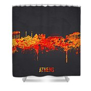 Athens Greece Shower Curtain by Aged Pixel