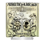 Athletics Vs Chicago 1929 World Series Shower Curtain