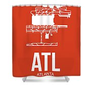 Atl Atlanta Airport Poster 3 Shower Curtain