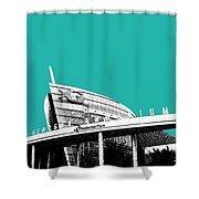 Atlanta Georgia Aquarium - Teal Green Shower Curtain