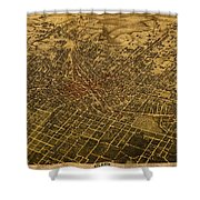 Atlanta Georgia City Schematic Street Map 1892 On Recovered Worn Parchment Paper Shower Curtain