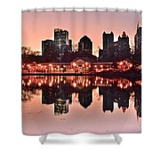 Atlanta Piedmont Pink Shower Curtain