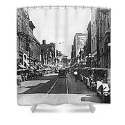 Atlanta Shopping District Shower Curtain