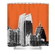Atlanta Skyline 2 - Coral Shower Curtain