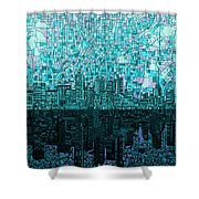 Atlanta Skyline Abstract 2 Shower Curtain