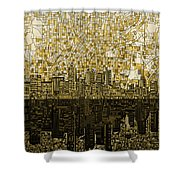Atlanta Skyline Abstract Shower Curtain