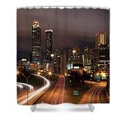 Atlanta Skyline At Dusk Shower Curtain