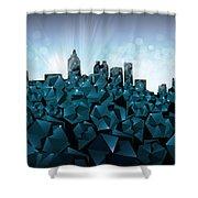Atlanta Skyline Geometry 3 Shower Curtain