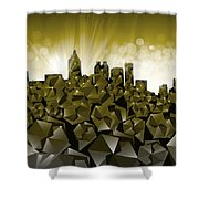 Atlanta Skyline Geometry Shower Curtain