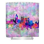 Atlanta Skyline Watercolor 4 Shower Curtain