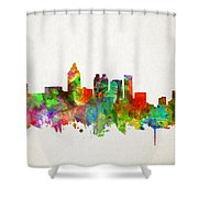 Atlanta Skyline Watercolor Shower Curtain